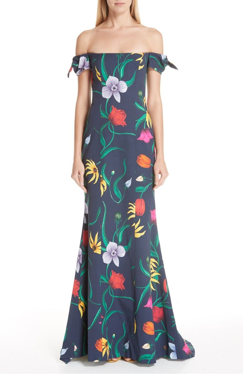 5f48db0b79 Off the Shoulder Floral Gown
