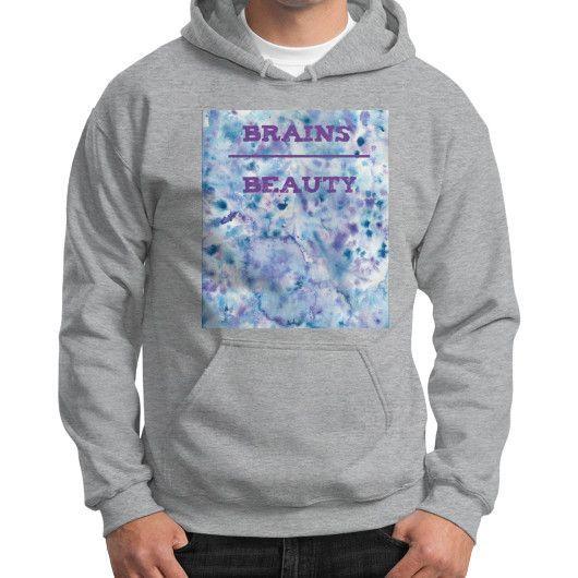 Brains Over Beauty Hoodie