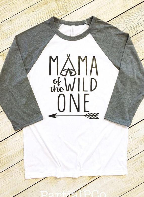 7c718d28a Mama of the Wild One Baseball Tee | Mom | adult raglan tee | momma | mom  life | First Birthday | Bea