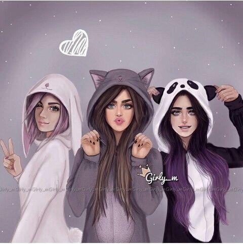 صور صديقات رمزيات صداقة البنات صور عن الصداقة Girly M Best Friend Drawings Drawings Of Friends