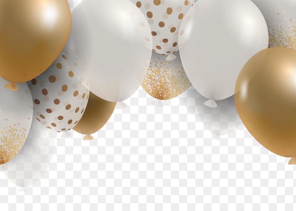 Luxury New Year Balloons Png In Transparent Background Free Image By Rawpixel Com Kul In 2021 Birthday Background Design Balloons Newyear