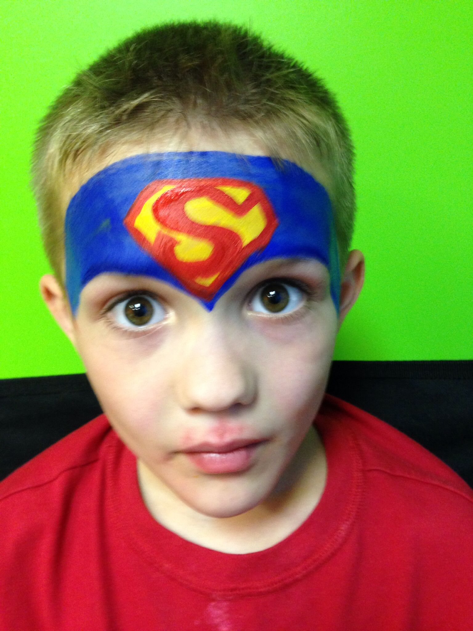 Superman Face Painting Supermen Yuzler