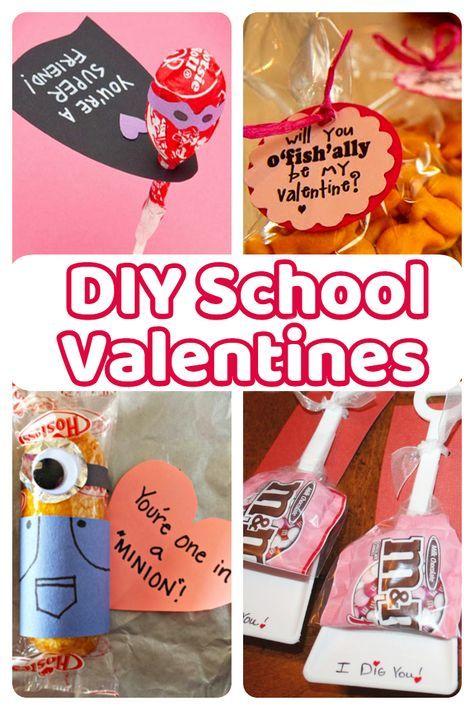 diy school valentine cards for classmates and teachers