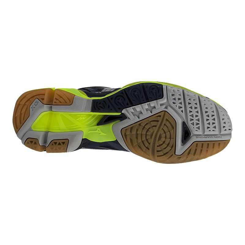 tout neuf e7109 74bd4 Mizuno Men's Wave Tornado X Mid Indoor Court Shoes - Yellow ...