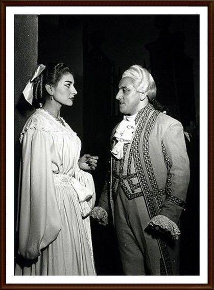 Maria Callas -1955 8 gennaio Milano Teatro alla Scala   Andrea Chénier Maddalena    Aldo Protti (Gérard)