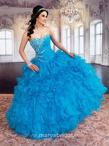 ocean blue quinceanera dress, blue, 15 | Quinceanera dresses ...