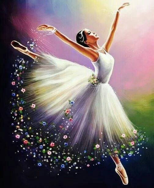 Вайбер, открытки танцующая девушка