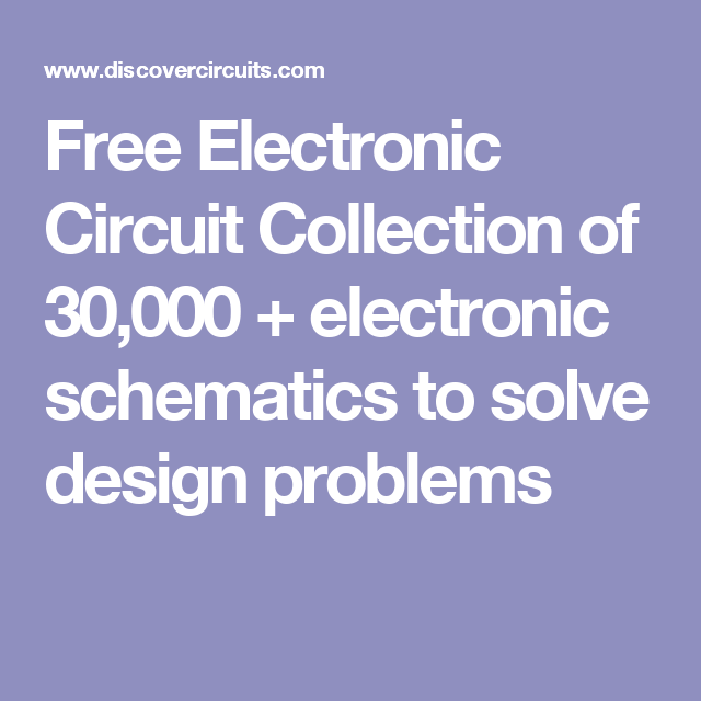 Free Electronic Circuits And Schematics - House Wiring Diagram Symbols •