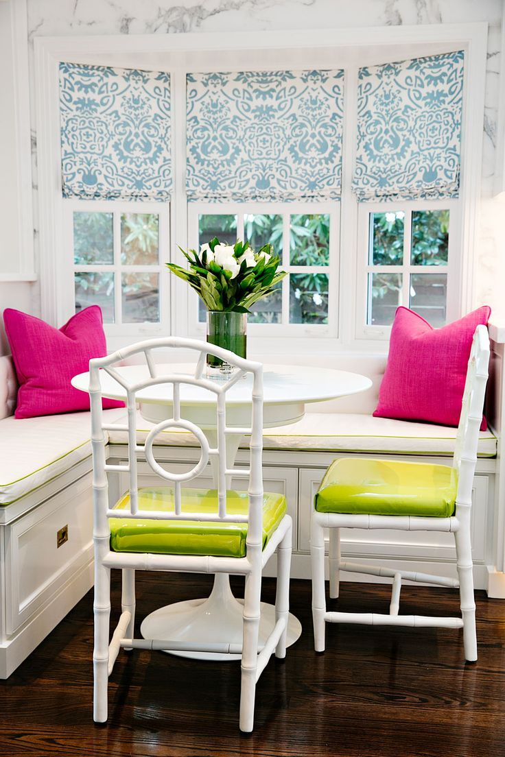 Kitchen nook window treatments  things we love banquettes  banquettes