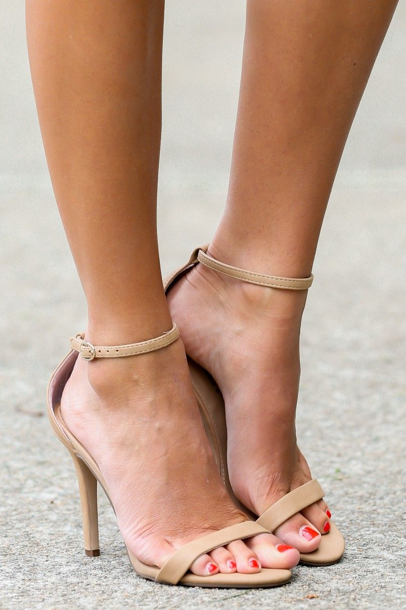 At My Best Nude Ankle Strap Heels at reddressboutique.com | shoes ...