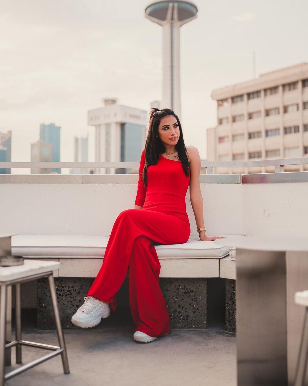 Red One Shoulder Long Sleeve Jumpsuit Jumpsuit Jumpsuits Jumpsuit With Sleeves Long Sleeve Jumpsuit Fashion