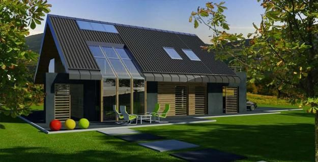 Modern eco homes and passive house designs for energy for Solar energy house designs