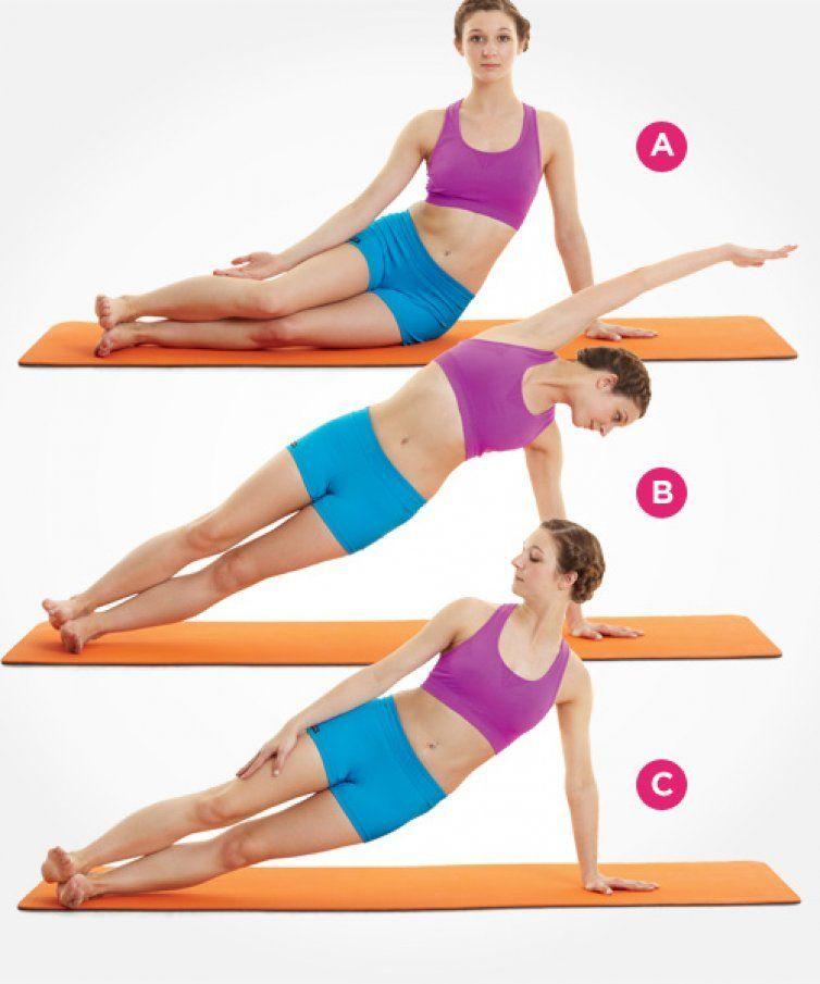 mujer haciendo ejercicios para moldear la cintura