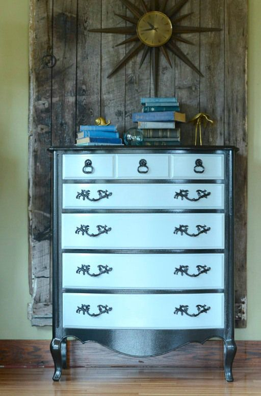 Gloss & Glamour Dresser Makeover - by Queen Patina