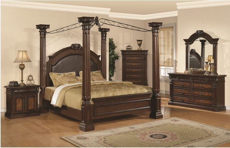 king bedroom suite set canopy bed 6 piece dressers nightstand mirror rh pinterest ca