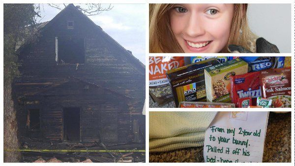 Last July, Imgur user HoppersKiddy was in the lowest pit after her apartment got burned in a fire accident. She posted the photo of her burnt home on the social media site...But thanks to people who followed her post, she was able to recover from the grave misfortune. Amazingly, strangers started sending in grocery items to HoppersKiddy and even a blanket for her pet.