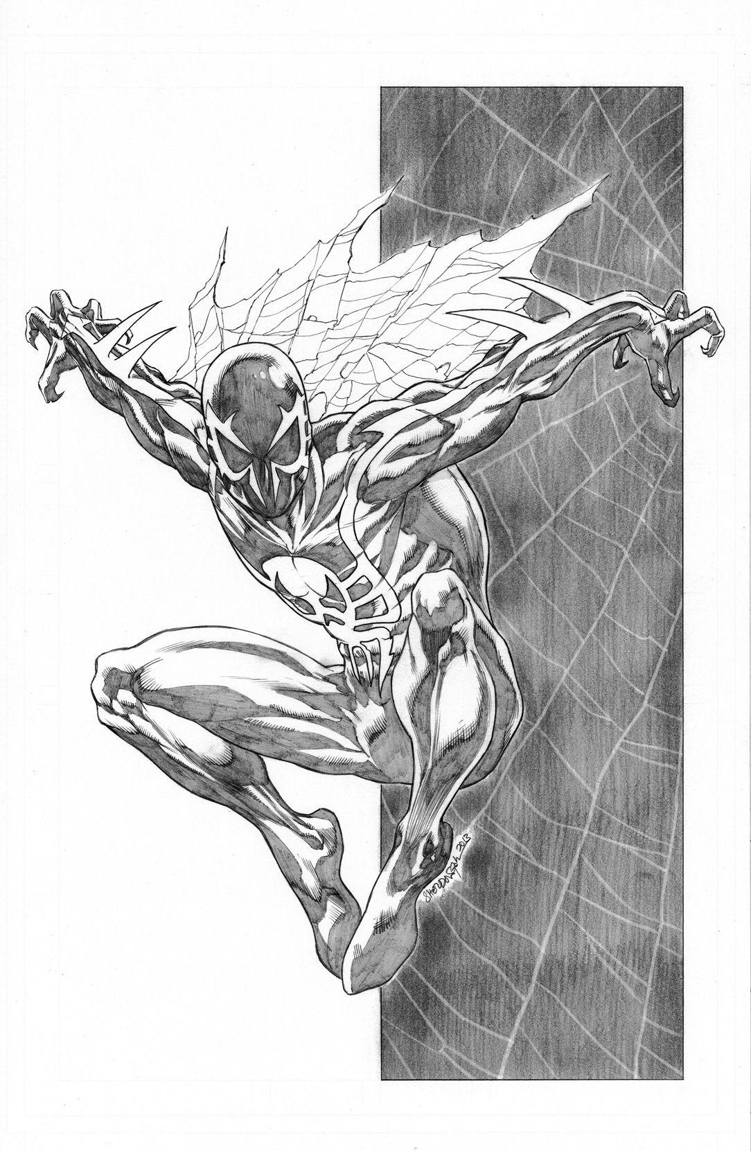 Spider Men Series Spider Man 2099 By Sheldongoh On Deviantart Spiderman Drawing Spiderman Art Marvel Drawings