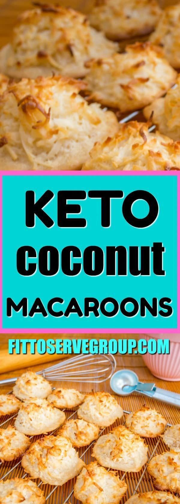 These keto coconut macaroons are the perfect little ketogenic diet cookie recipe - Keto Brownies -