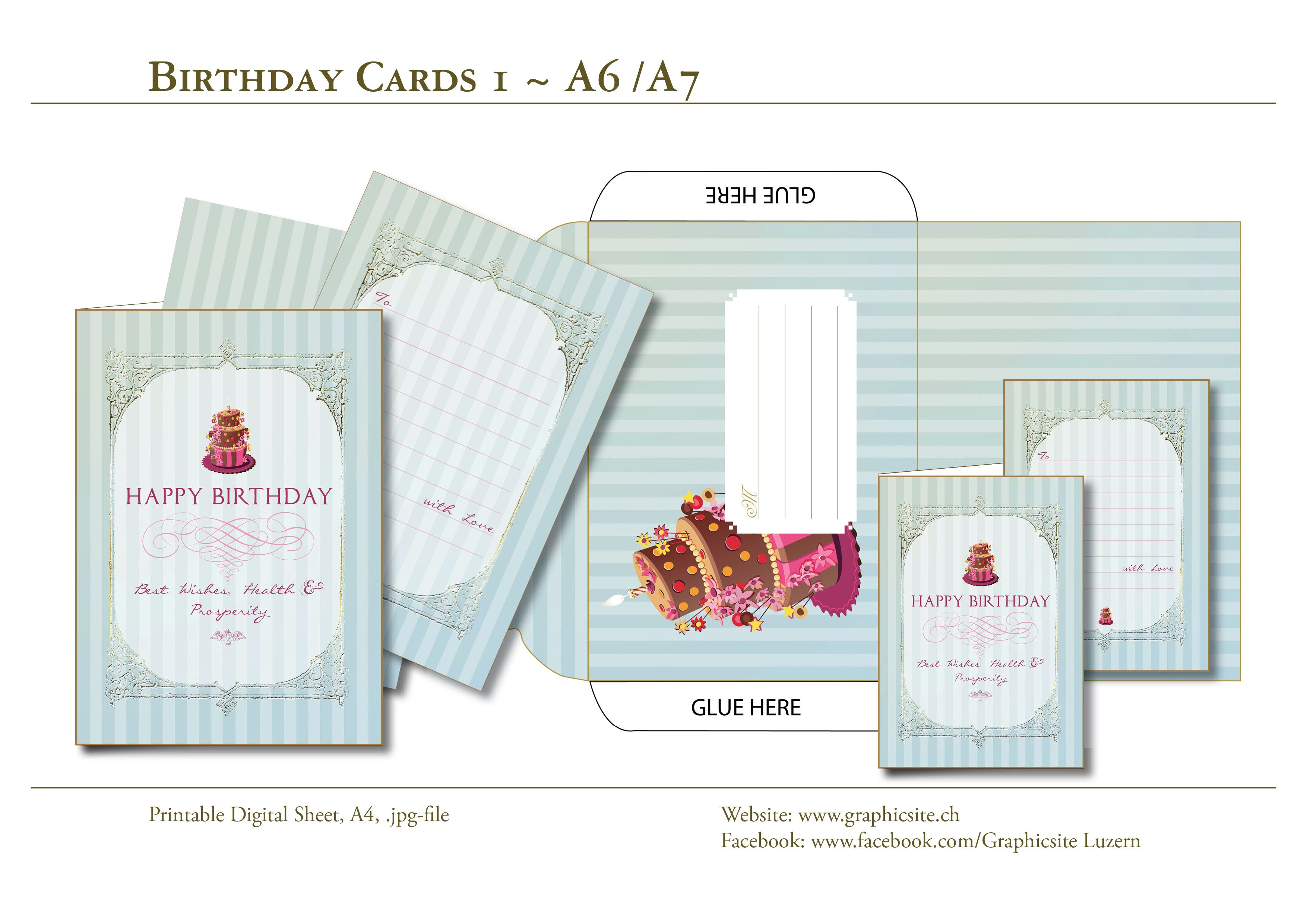 Birthday Card Collection Beautiful Printable Cards Envelope For