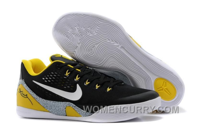 Big Discount  66 OFF Nike Kobe 9 EM Away BlackYellowElephant Print Grey For Sale