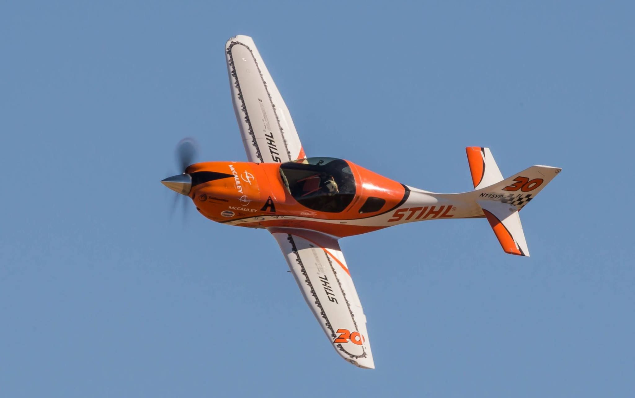 30 STIHL at Reno 2016 is a sleek carbon fiber race plane is a