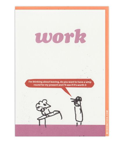 Funny Leaving Card From Modern Toss Funny Leaving Cards