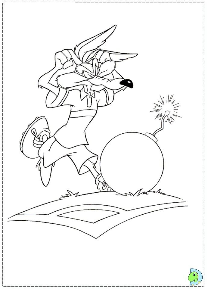 Wile E Coyote Coloring Page Coloring Pages Celtic Coloring Cartoon Kids