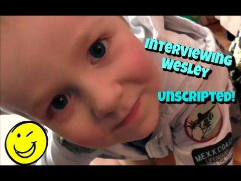 Interviewing Wesley! An Unscripted Q&A session with Wesley - Kids do say the darnedest things! - YouTube