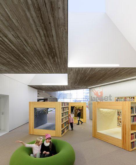 Cavernous Copper Clad Library Designed For Alvar Aalto S Historic Civic Centre Library Architecture School Interior City Library