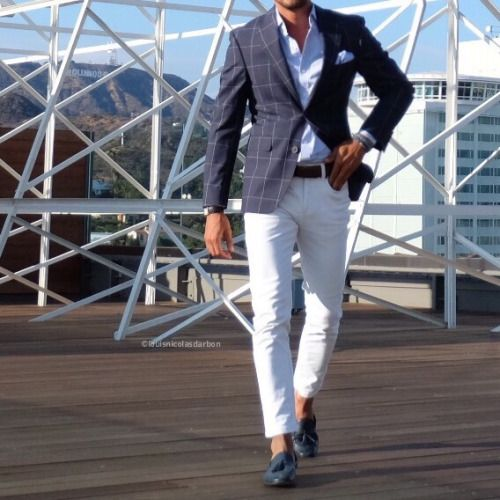firenli louisnicolasdarbon: Overcheck Blazer on the roofs of