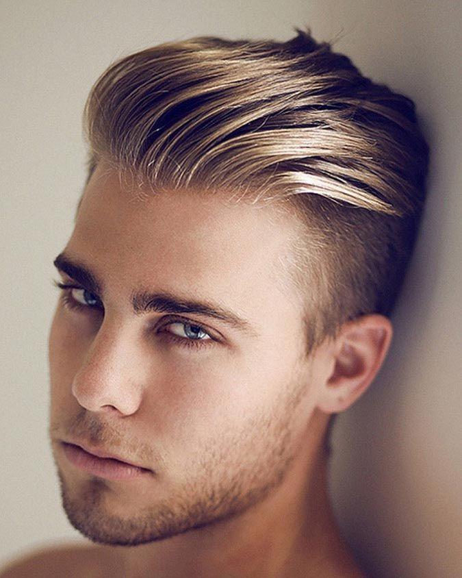 Zaczesane Do Tyłu Włosy Wygolone Boki Blond Rzeczy Do Kupienia