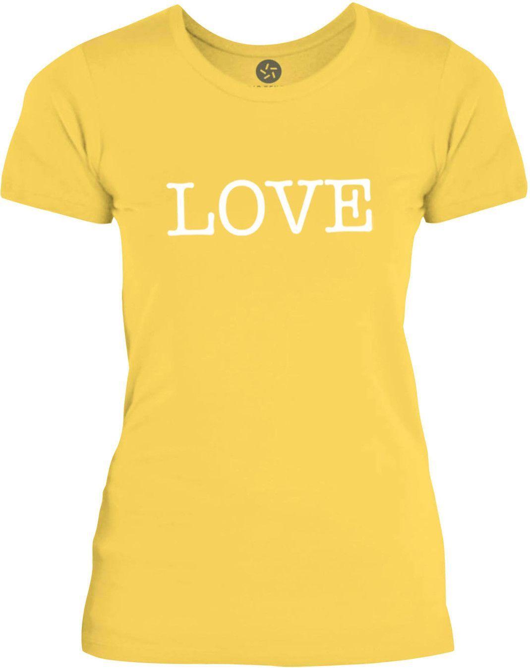Big Texas LOVE (White) Womens Fine Jersey T-Shirt