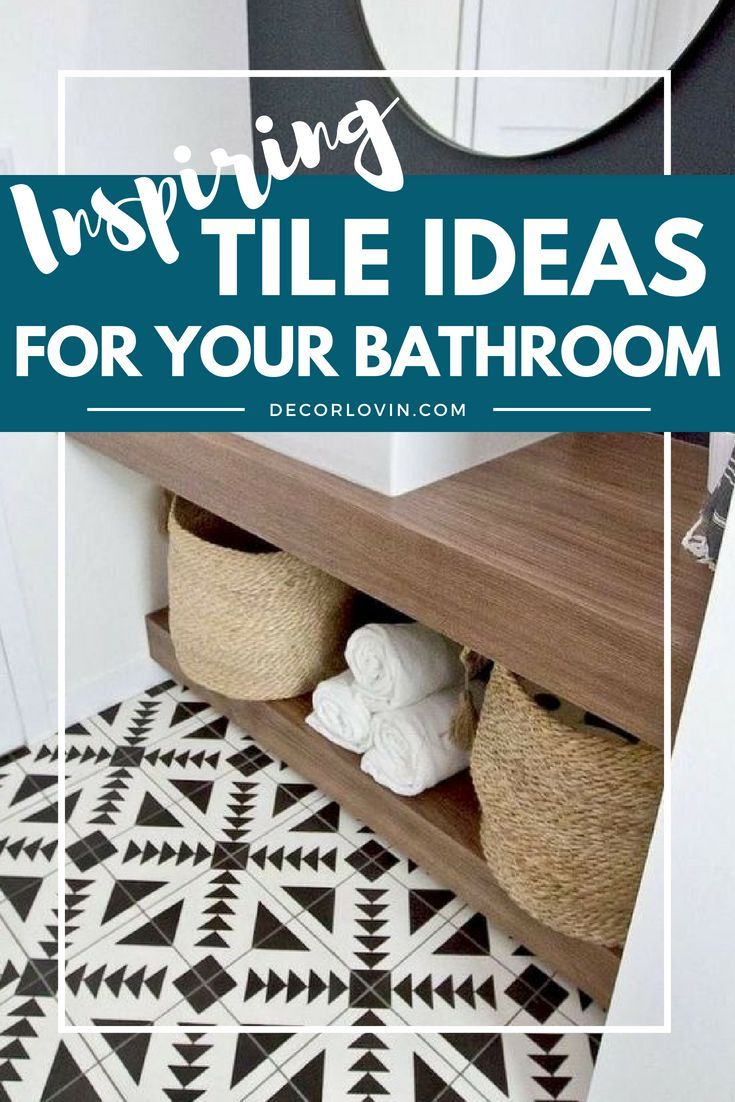 15 Awesome Tile Ideas for Your Bathroom | DIY Community Board ...