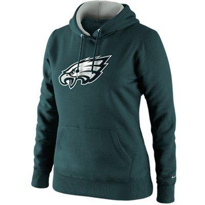 on sale ba961 493b3 Nike Philadelphia Eagles Ladies Tailgater Pullover Hoodie ...
