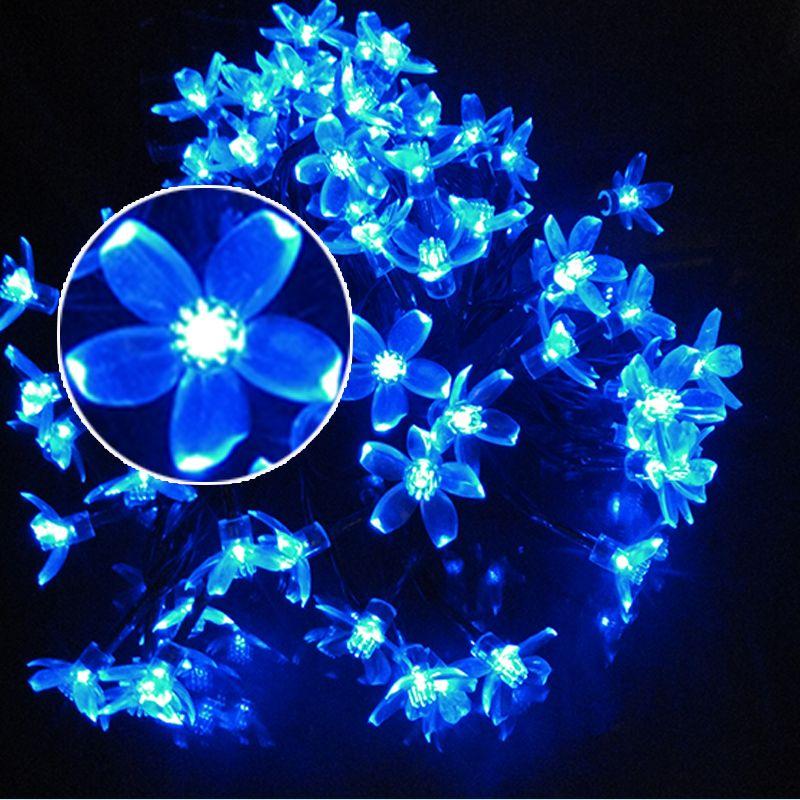 Solar Led String Lights Outdoor Stunning 100Led 12M Waterproof Decorative Cherry Globe Solar Powered Led