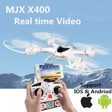 http://bitly.com/DroneQuatcopters MJX X400 6-axis Gyro 4CH RC Quadcopter Drone RC Helicopter&C4005 WiFi FPV Camera
