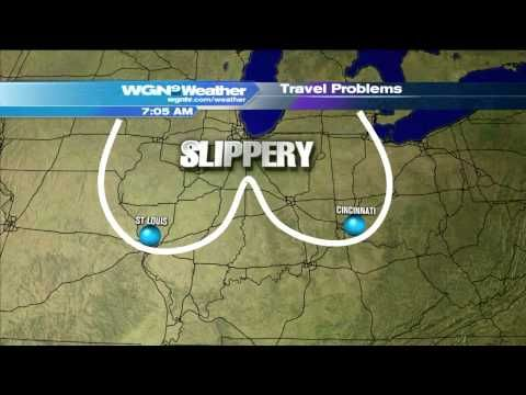 Oddly Shaped Weather Map.Oddly Shaped Weather Map Sends Wgn Morning News Into Fits Of
