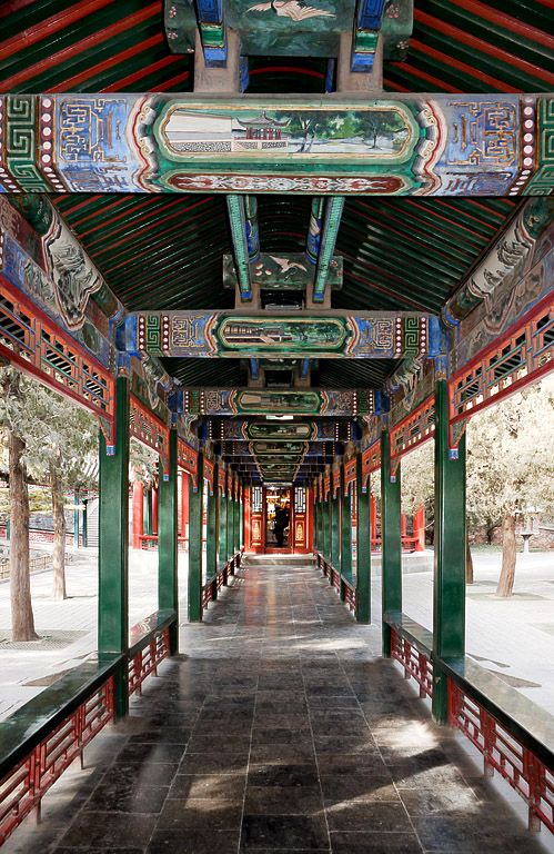 The Summer Palace, Beijing, China. The Long Corridor was