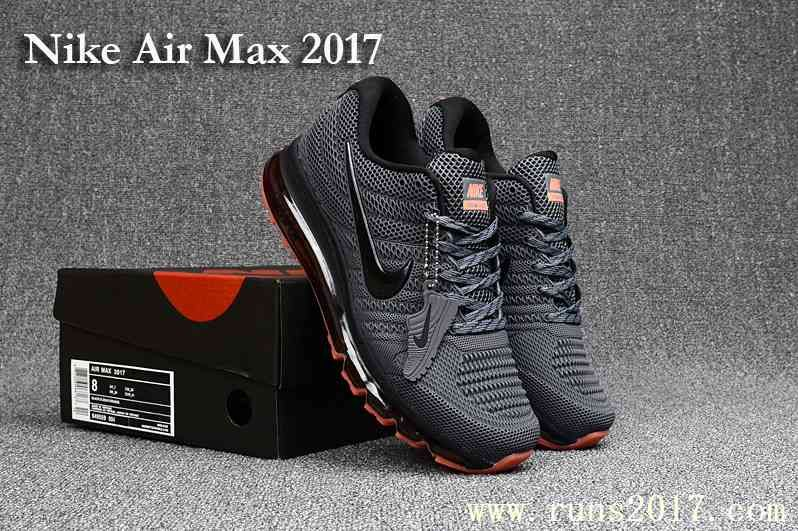 9584cbbbe44 New Nike Air Max 2017 Men Carbon Grey