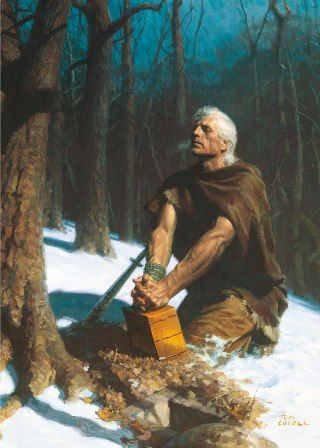 Moroni the last prophet of a once great nation, sees it destroyed. he then buries the Nephite record in the hope that a future people might gain wisdom from their mistakes.
