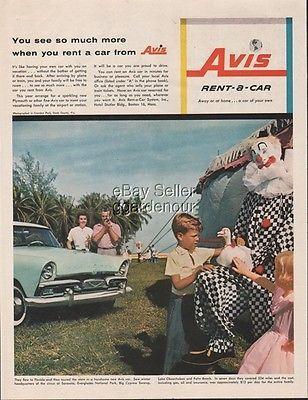 1956 Ringling Circus Winter Quarters Sarasota Florida Clown Avis