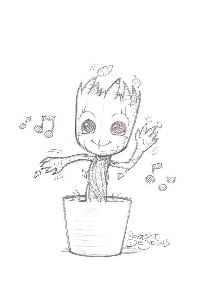 Baby Groot Graffiti Letters Pinterest Drawings Art Drawings