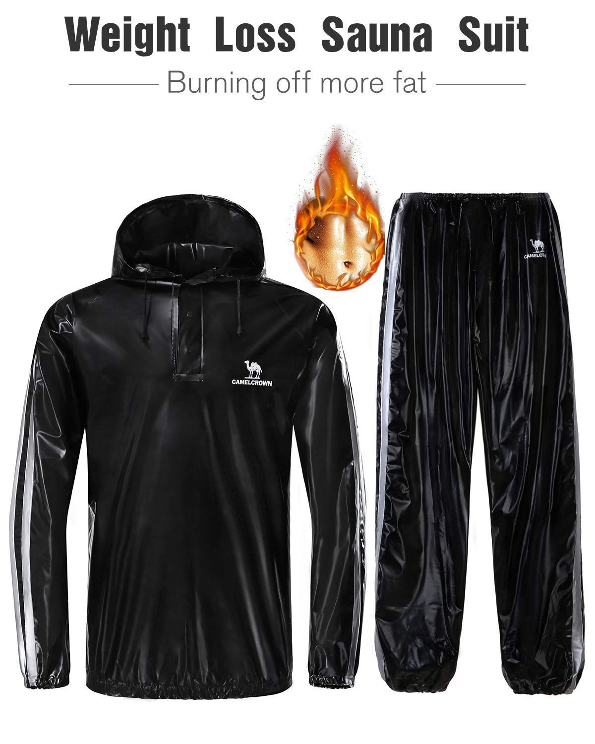 New Men Women Sweat Sauna Suit Fitness Loss Weight Exercise Training Tracksuit