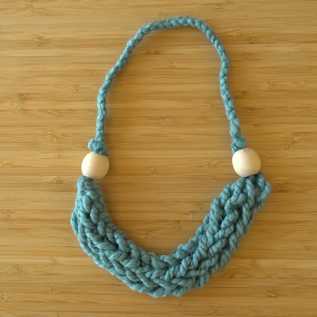 Photo of Stash Busting Finger Knitting Necklace