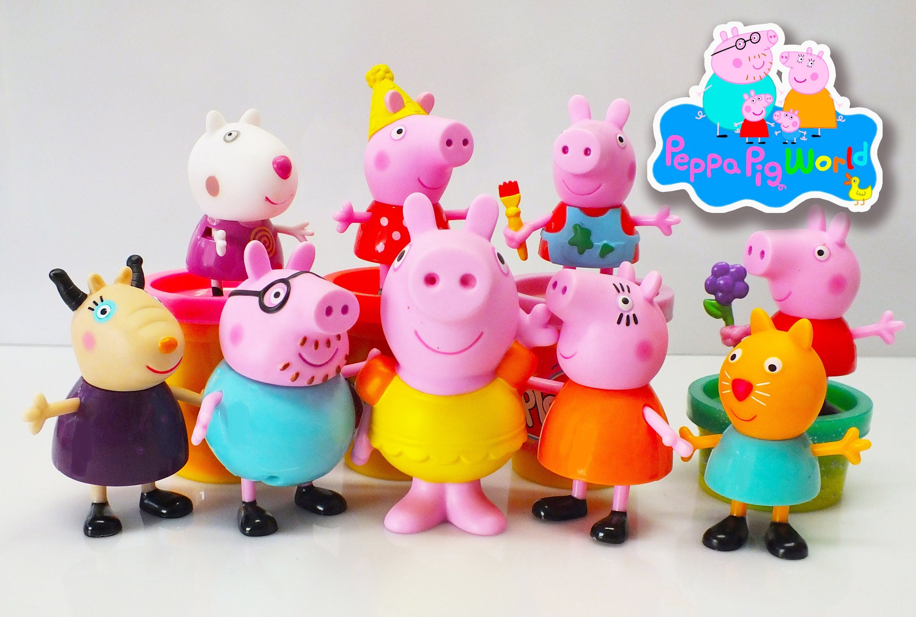 Peppa Pig Toys 2015 ❤ Play doh 2015 ❤ Kids Fun Peppa Pig & Play