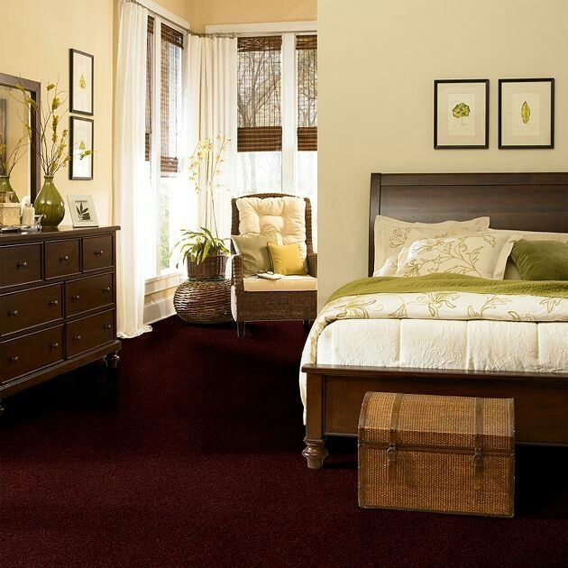 Burgundy carpet bedroom pinterest bedroom remodeling for Carpet ideas for bedrooms