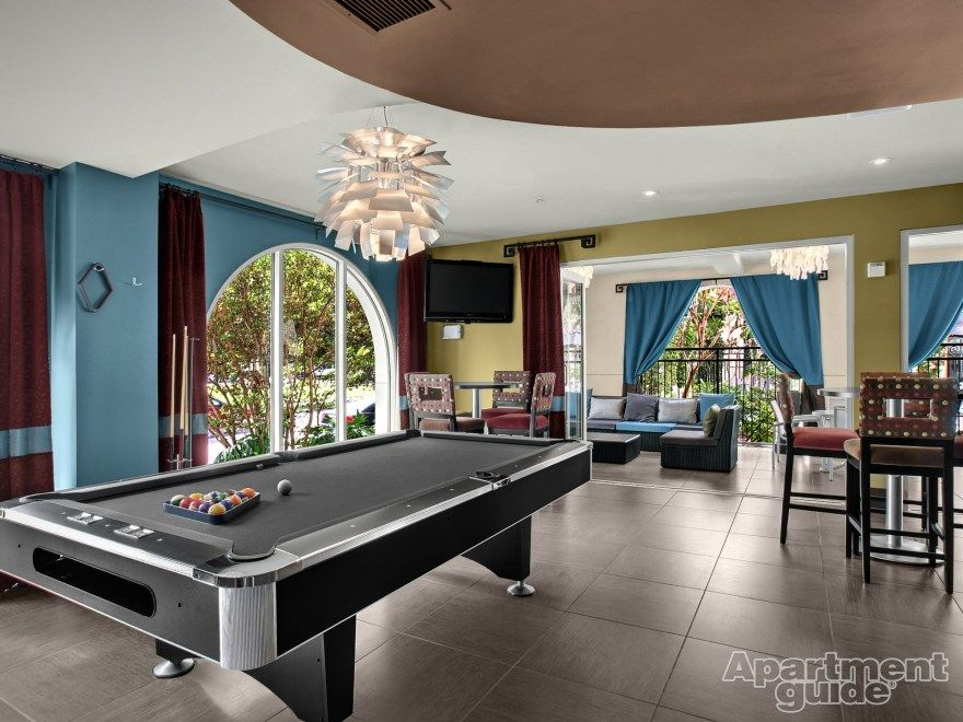 Play A Game Of Pool In This Luxe #apartment Clubhouse