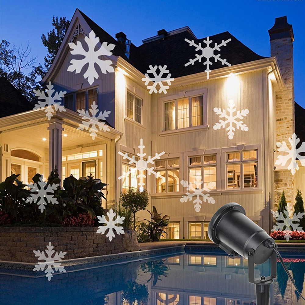 Snieg Laser Projektor Lampy Led Swiatla Etapie 2 Kolory Sniegu Na Boze Narodzenie Nowy Rok Party Ogrod Odkryty Dziecinstwo Zima Wr Christmas Lamp Christmas Lights Christmas Projector