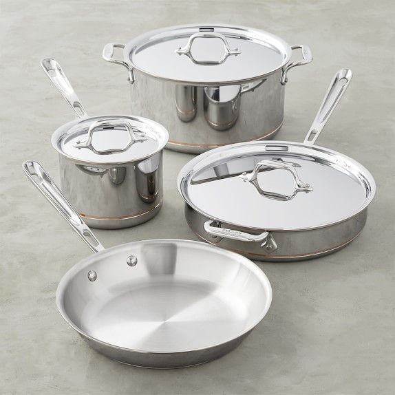 All Clad Copper Core 7 Piece Cookware Set In 2020 Cookware Set
