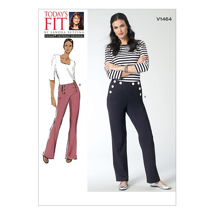 Vogue Women\'s Trousers Sewing Pattern, 1464   Sewing patterns and ...